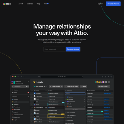 Attio: the Relationship Workspace