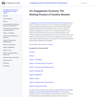 Art, Engagement, Economy: The Working Practice of Caroline Woolard