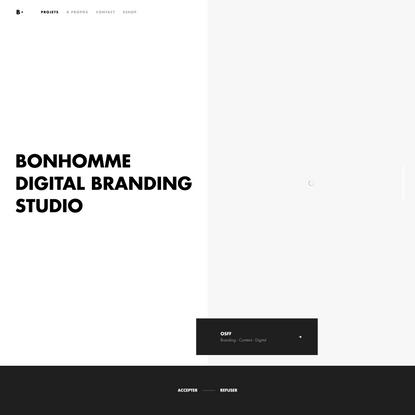 Bonhomme   Studio de Branding Digital