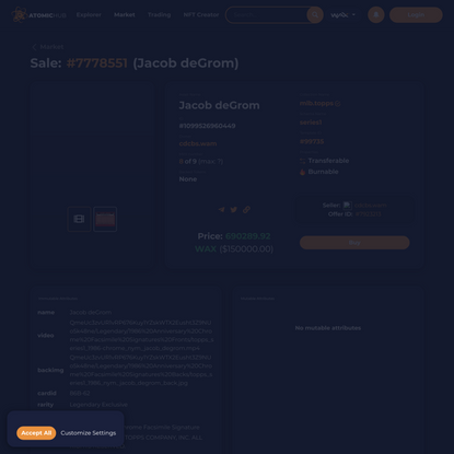 AtomicHub - Interface for the EOSIO AtomicAssets NFT standard