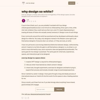 why design so white?