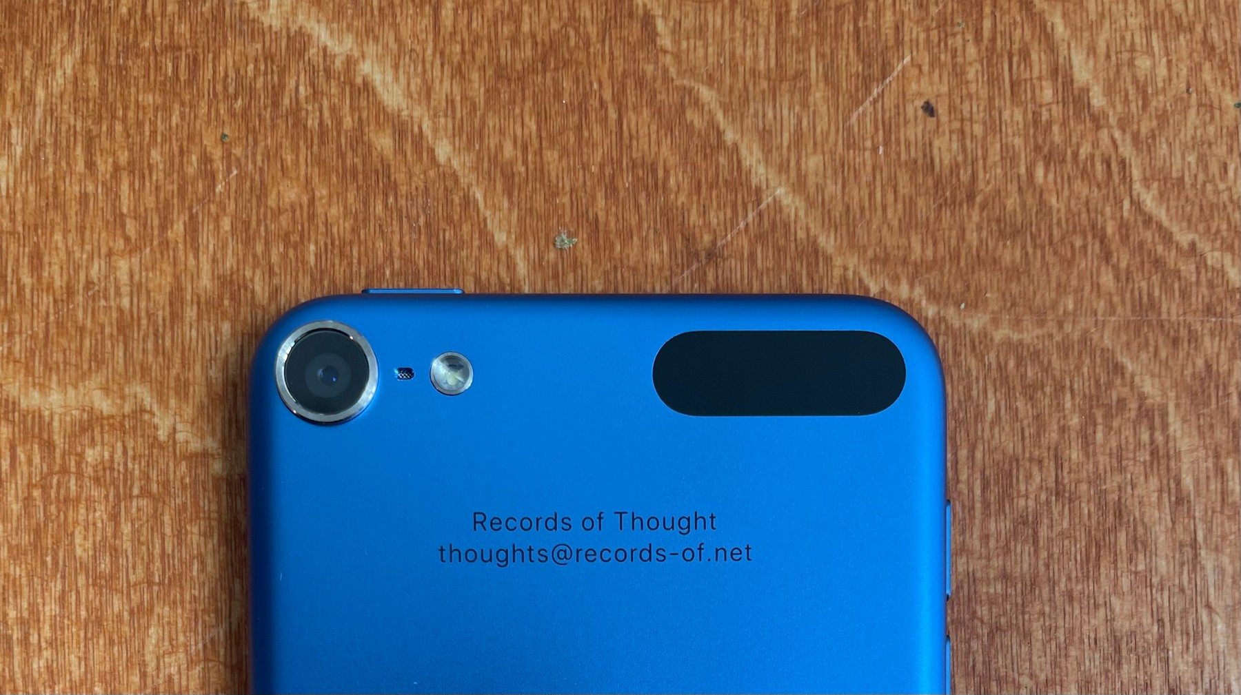 Temporary recoding device for records of thought