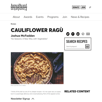 Cauliflower Ragù