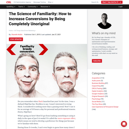 The Science of Familiarity: How to Increase Conversions by Being Completely Unoriginal