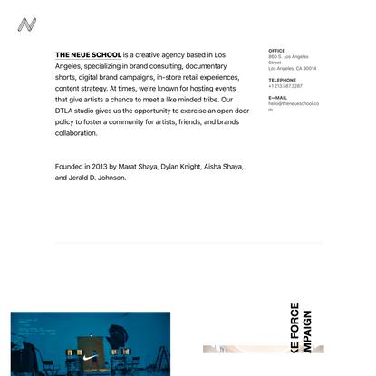 Contact — The Neue School