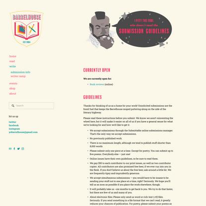 submission info — BARRELHOUSE