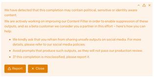 OpenAI sensitive content warning