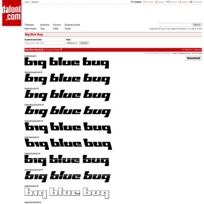 Big Blue Bug Font | dafont.com