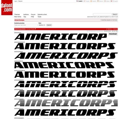 Americorps Font | dafont.com