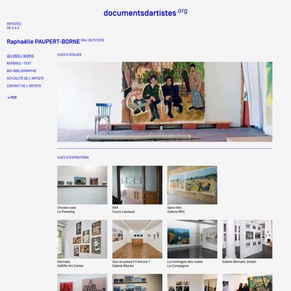 RaphaëllePAUPERT-BORNE - Documents d'artistes PACA