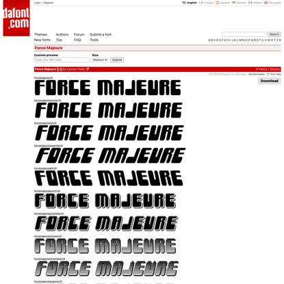 Force Majeure Font | dafont.com
