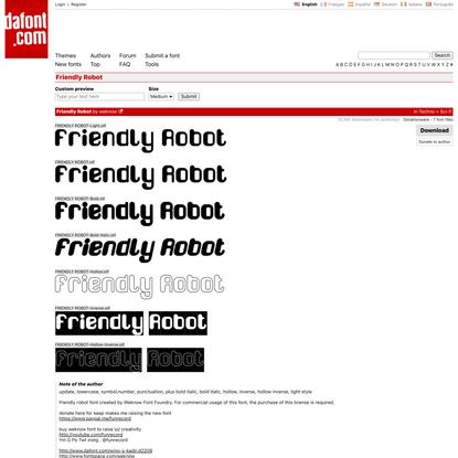 Friendly Robot Font | dafont.com