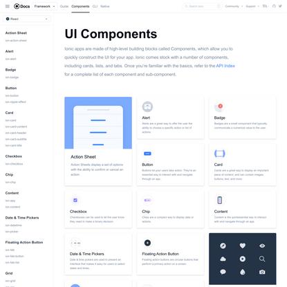 UI Components - Ionic Documentation
