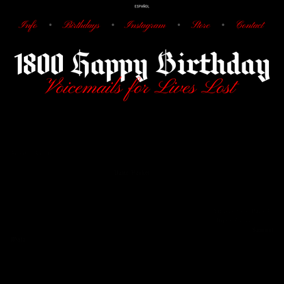 1800 Happy Birthday, Over a Decade of Lives Lost