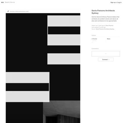 Savio Parsons Architects Sydney — Are.na