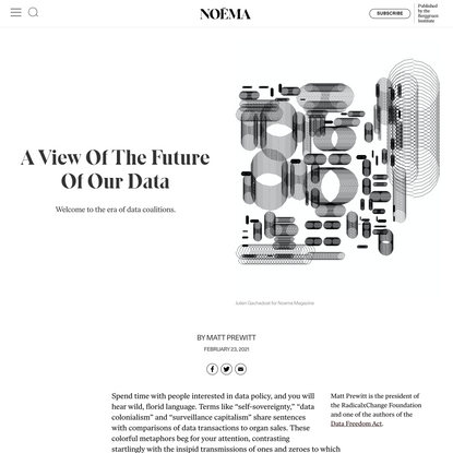 A View Of The Future Of Our Data   NOEMA