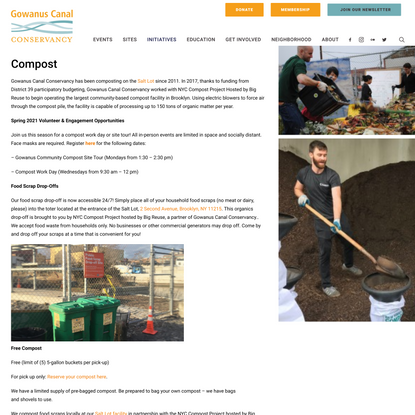 Compost – Gowanus Canal Conservancy
