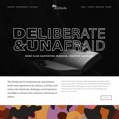 Deliberate & Unfraid Book Club — De Nichols