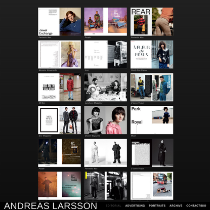 Andreas Larsson - Photographer - Editorial