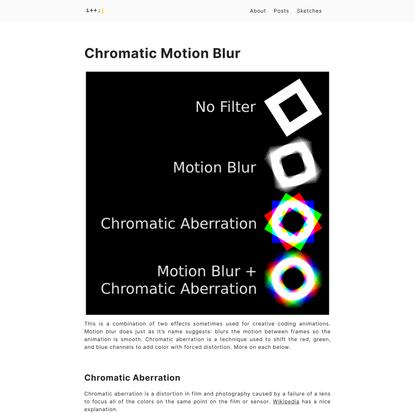 Chromatic Motion Blur