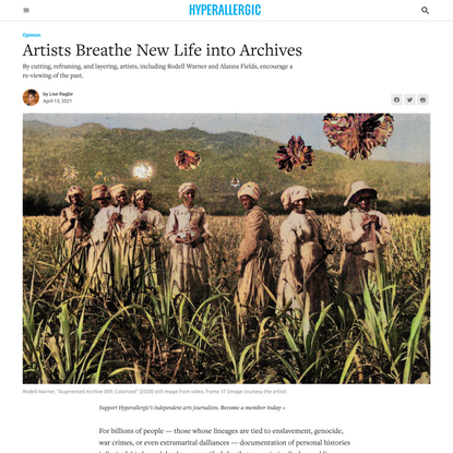 Artists Breathe New Life into Archives