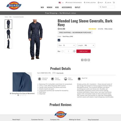 Jumpsuit for Men , Dark Navy S | Dickies