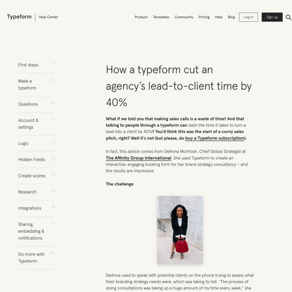 How a typeform cut an agency's lead-to-client time by 40%