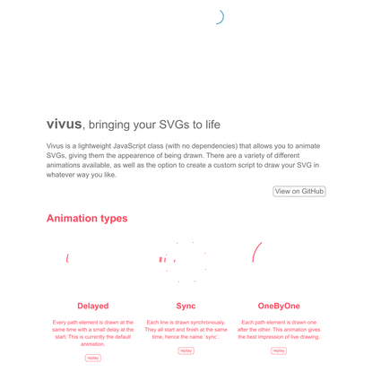 vivus.js - svg animation