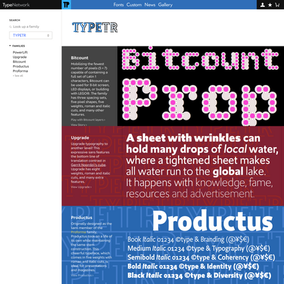 TYPETR on Type Network