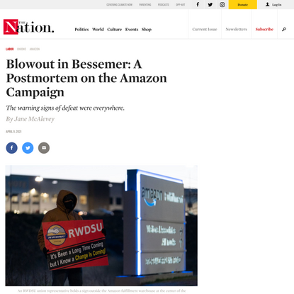 Blowout in Bessemer: A Postmortem on the Amazon Campaign