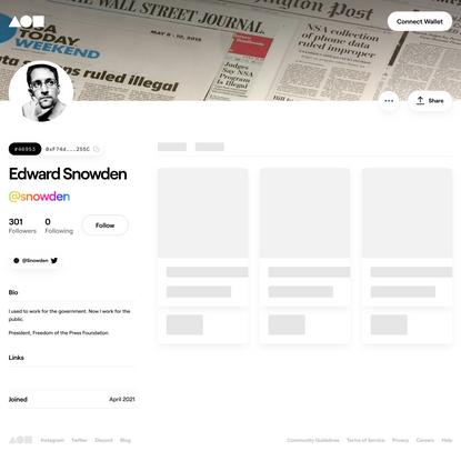 Edward Snowden (@snowden)   Foundation