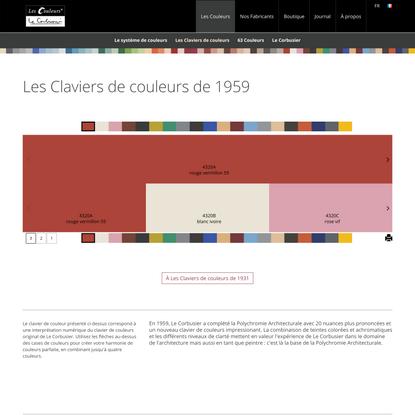 Les Claviers de Couleurs de Le Corbusier de 1959