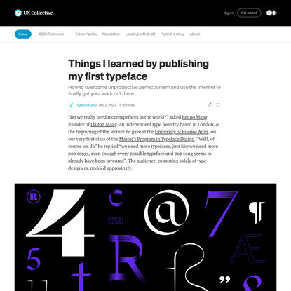 Things I learned by publishing my first typeface