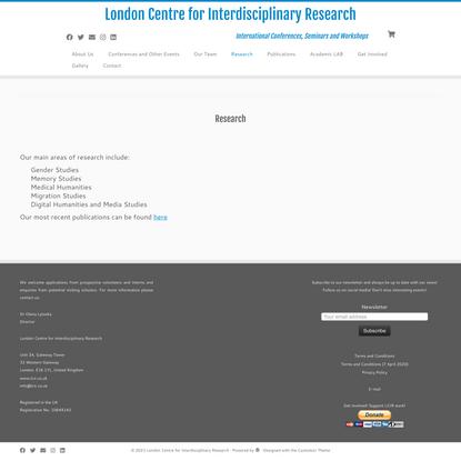 London Centre for Interdisciplinary Research