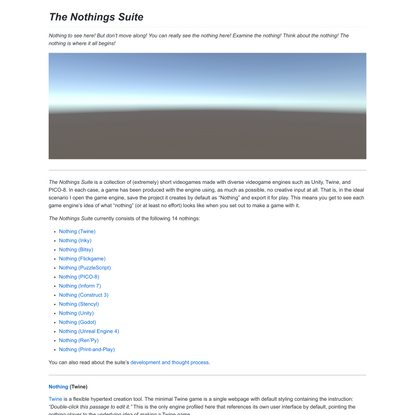 The Nothings Suite