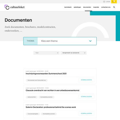 Documenten | Cultuurloket