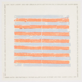 Agnes Martin: New Paintings, Pace Gallery, March 1 - April 1, 1975 [Tenderbooks, London]