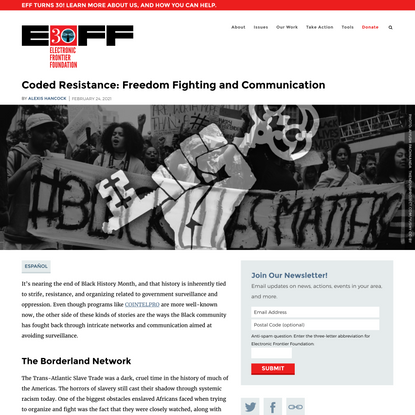 Coded Resistance: Freedom Fighting and Communication