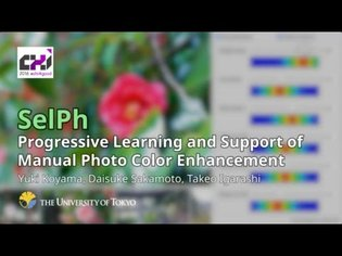 SelPh: Progressive Learning and Support of Manual Photo Color Enhancement (CHI 2016)