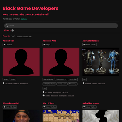 Black Game Developers