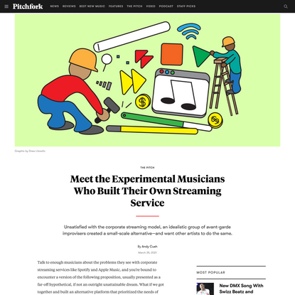 Meet the Experimental Musicians Who Built Their Own Streaming Service | Pitchfork