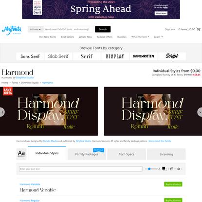 Harmond Font   Webfont & Desktop   MyFonts