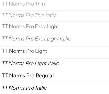 TT Norms Pro Complete Family   Webfont & Desktop font   MyFonts