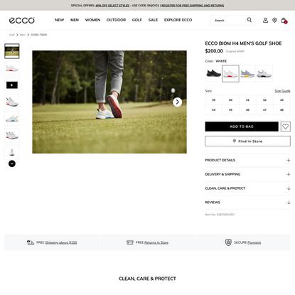 ECCO Men's Biom H4 Golf Shoes   ECCO® Shoes