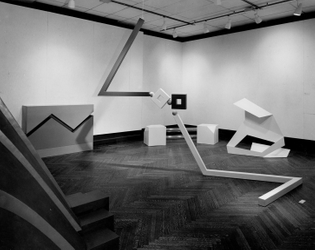 """Installation View of """"Primary Structures,"""" 1966, at the Jewish Museum,"""