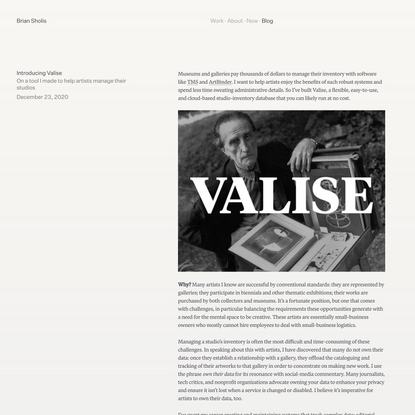 Introducing Valise