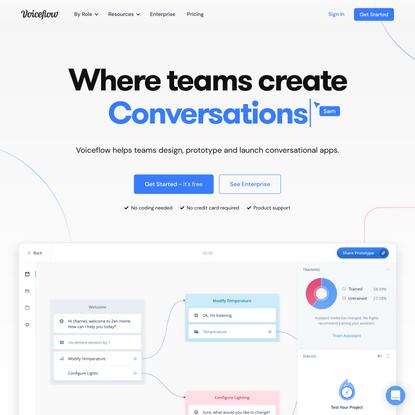 Voiceflow   Design, prototype, & launch voice apps