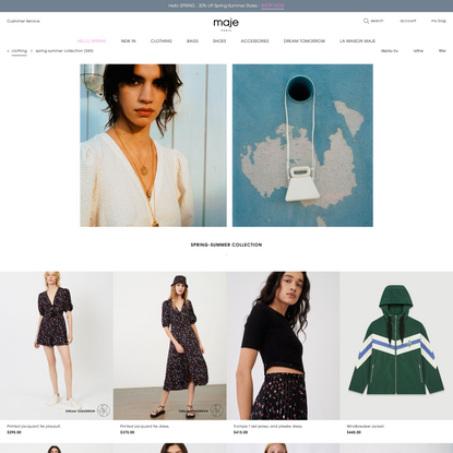 Spring-Summer Collection Clothing | Maje.com