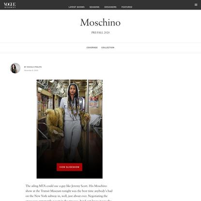 Moschino Pre-Fall 2020 Collection