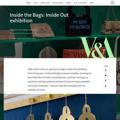 V&A · Inside the Bags: Inside Out exhibition